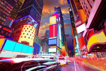 Times Square de Nova York todos os an�ncios exclu�do EUA