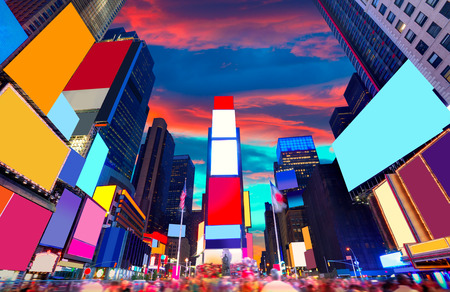 new york city times square: Times Square Manhattan New York all the ads deleted US