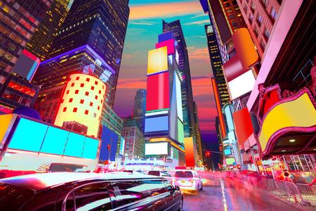 Times Square New York alle Anzeigen gelöscht US