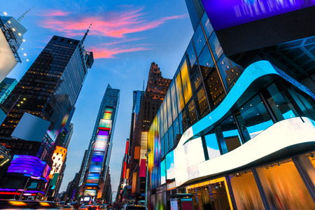 Times Square in New York alle advertenties verwijderd VS Stockfoto