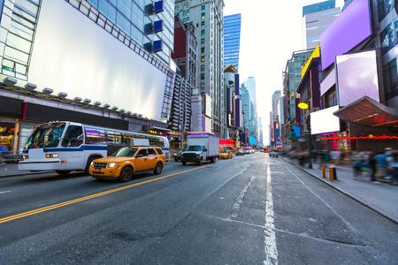 cuadrado: Times Square de Manhattan de Nueva York todos los anuncios eliminan EE.UU.