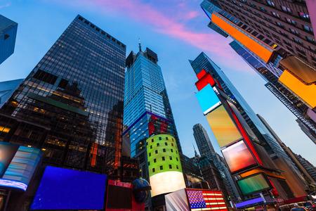 タイムズ スクエア ニューヨークのすべての広告は私たちを削除 写真素材