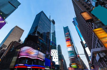 Times Square in New York alle advertenties verwijderd VS Stockfoto