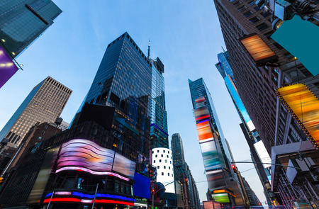 office time: Times Square Manhattan New York all the ads deleted US