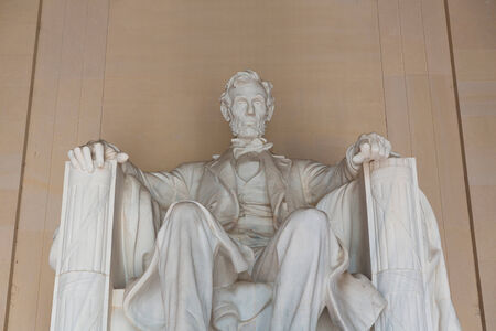 abraham lincoln: Abraham Lincoln Memorial building Washington DC US USA