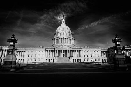 Capitol building Washington DC eastern facade USA US congress Standard-Bild