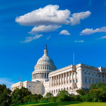 Edificio del Capitolio de Washington DC día la luz del sol EE.UU. Congreso de Estados Unidos
