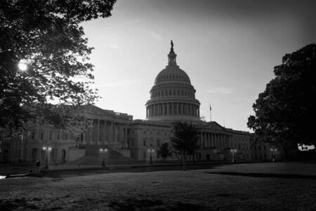 capitol building: Capitol building Washington DC sunset garden USA US congress Stock Photo