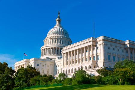 Gebouw van het Capitool in Washington DC zonlicht dag USA Amerikaanse Congres