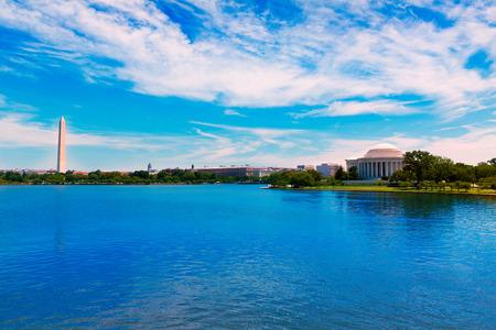 thomas: Thomas Jefferson and Washington memorial in District of Columbia USA