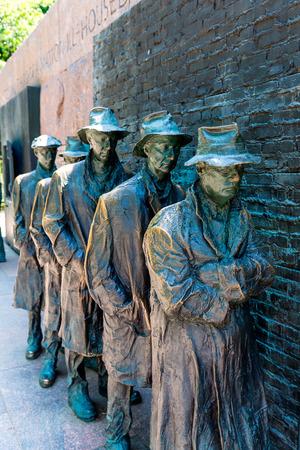delano: Franklin Delano Roosevelt Memorial in Washington Great Depression sculpture