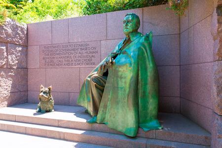 delano: Franklin Delano Roosevelt Memorial with dog in Washington DC USA Editorial