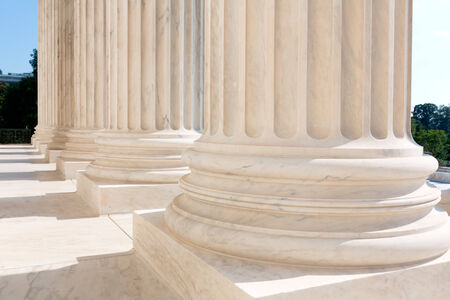capital building: Supreme Court of United states columns row in Washington DC Stock Photo
