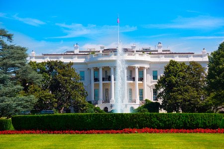 Das Weiße Haus in Washington DC USA USA Standard-Bild