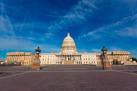 capitol building: Capitol building Washington DC eastern facade USA US congress Stock Photo