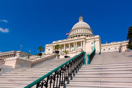 Capitol building Washington DC sunlight USA congress stairway US