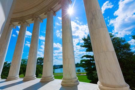 jefferson: Thomas Jefferson memorial in Washington DC USA