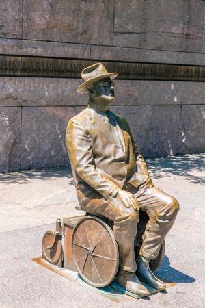 roosevelt: Franklin Delano Roosevelt Memorial in Washington DC USA