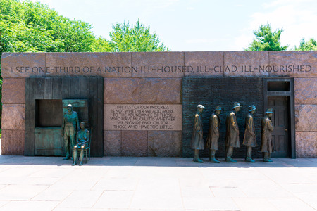 the franklin: Franklin Delano Roosevelt Memorial in Washington Great Depression sculpture