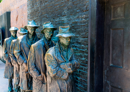 depresi�n: Franklin Delano Roosevelt Memorial en Washington escultura Gran Depresi�n