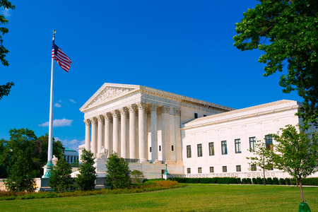 Oberster Gerichtshof der USA in Washington DC Standard-Bild