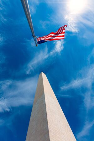district of colombia: Washington Monument in District of Columbia DC USA