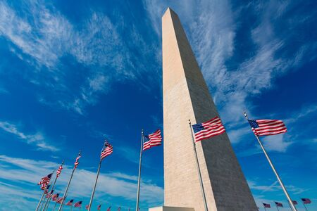 columbia district: Washington Monument in District of Columbia DC USA