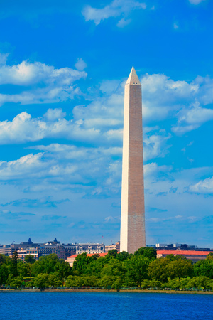 district of columbia: Washington Monument over Tidal Basin District of Columbia USA