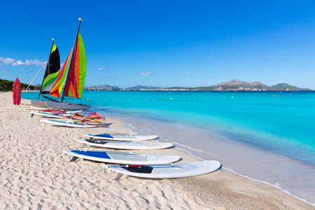 mediterraneo: Platja de Muro Esperanza beach in Alcudia Bay Majorca Mallorca