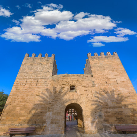 moll: Alcudia Old Town in Majorca Porta des Moll Mallorca Balearic island of Spain