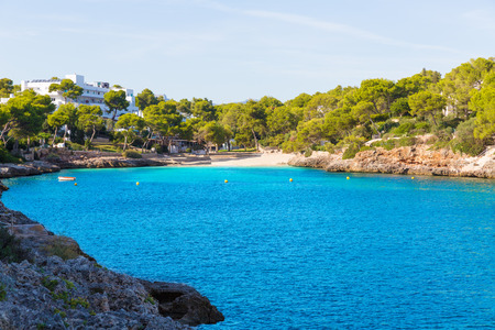 d: Majorca Cala Dor d Or beach in Mallorca Santanyi at Balearic Islands of Spain Stock Photo