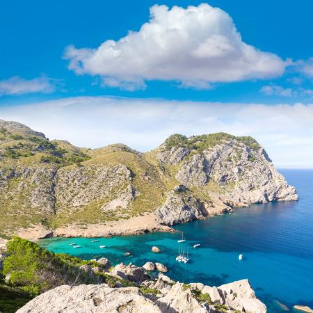 mediterraneo: Majorca Cala Figuera beach of Formentor in Mallorca Balearic island of Spain Stock Photo