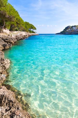 Majorca Cala Gran Beach in Cala Dor in Mallorca Santanyi at Balearic Islands of Spain Stock Photo