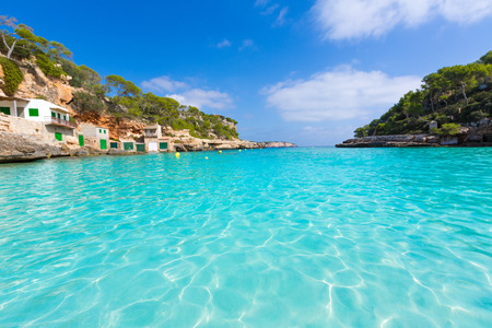 majorca: Majorca Cala Llombards Santanyi beach in Mallorca Balearic Island of Spain Stock Photo