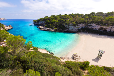 Majorca Cala Llombards Santanyi beach in Mallorca Balearic Island of Spain Stock Photo