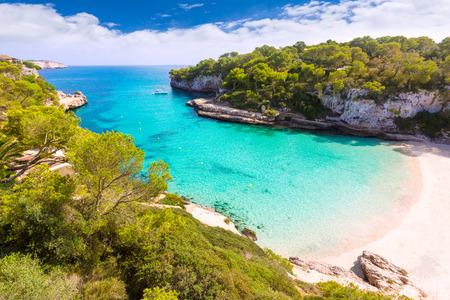 mallorca: Majorca Cala Llombards Santanyi beach in Mallorca Balearic Island of Spain Stock Photo