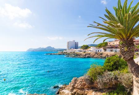 Majorca Cala Ratjada beach Rajada in Capdepera Mallorca Stock Photo
