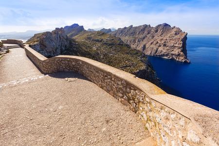 mirador: Majorca mirador Formentor Cape in Mallorca island of spain