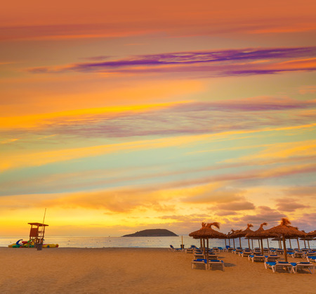 majorca: Mallorca sunrise in Magaluf Palmanova beach Magalluf in Balearic Islands Spain