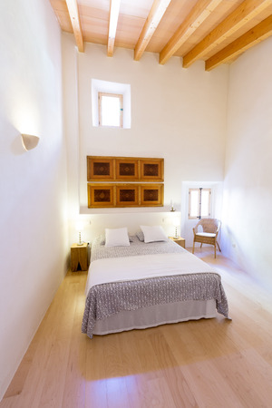 residencial: Majorca Balearic bedroom indoor house in Balearic islands Mediterranean architecture of Mallorca