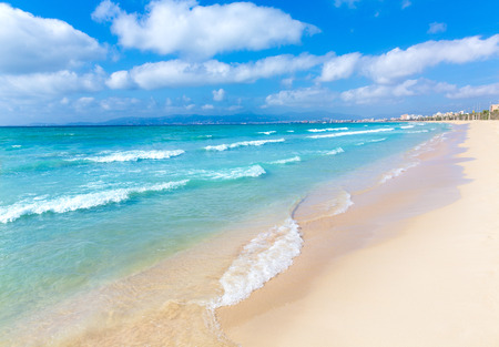 baleares: Majorca sArenal arenal beach Platja de Palma in mallorca Balearic Islands