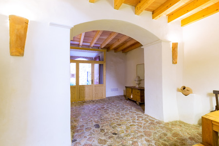 residencial: Majorca Balearic indoor house in Balearic islands Mediterranean architecture of Mallorca Stock Photo