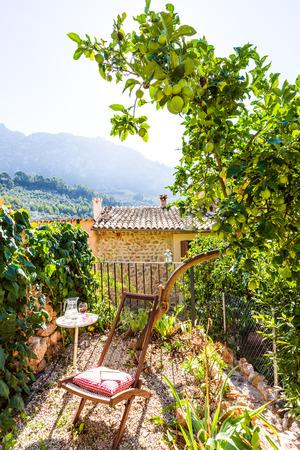 residencial: Majorca Balearic house patio in Balearic islands Mediterranean architecture of Mallorca