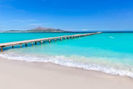 Majorque Platja de Muro plage quai dans la baie Alcudia Majorque dans les îles Baléares d'Espagne Banque d'images