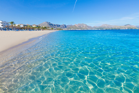 baleares: Majorca Platja Tamarells in Pollensa Pollenca at Mallorca balearic island of spain