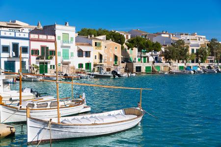 colom: Majorca Porto Colom Felanitx port in mallorca Balearic island of Spain
