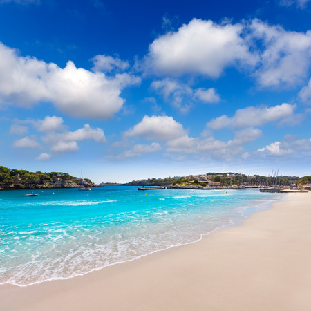 cristo: Majorca Porto Cristo beach in Manacor of Mallorca Balearic island at spain