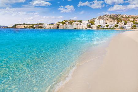 baleares: Mallorca Cala Santa Ponsa Ponca beach in Calvia Majorca Balearic islands of Spain