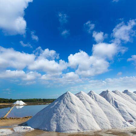 es: Mallorca Ses Salines Es Trenc Estrenc saltworks in Balearic Islands Spain Stock Photo