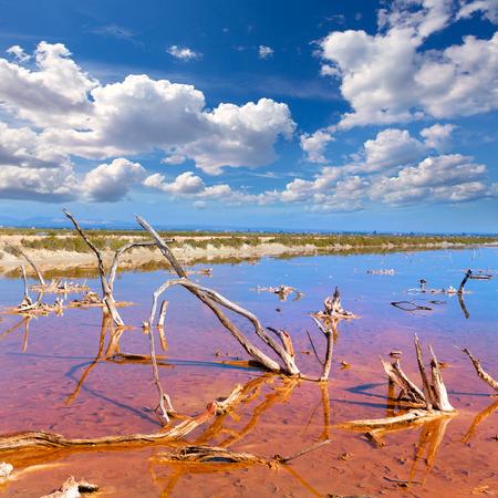 es: Mallorca Es Trenc Ses Salines saltworks in Balearic islands Majorca